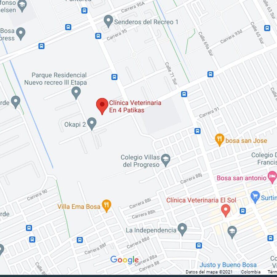ubicación clinica